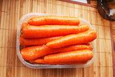Few sticks of tasty carrots — Stock Photo