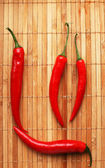 Red chilli peppers — Stock fotografie