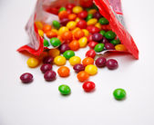 Bright and appetizing candies - skittles — Stock Photo