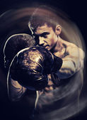 Boxing young man — Foto de Stock