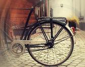 Ročník fotografické lampy na kole — Stock fotografie
