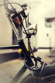 Vintage photo of a bike lamp — Stockfoto
