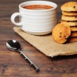 Cookies and a cup of chocolate — Stock Photo
