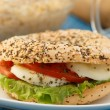 Foto de Stock  : Vegeterisandwich with sesame and poppy seed