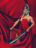 Legionary soldier,prepare for the fight. — Stock Photo