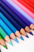 Green, blue and red color pencils — Stock Photo