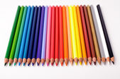 A rainbow of color pencils — Zdjęcie stockowe
