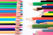 Sharp and blunt color pencils — Stockfoto