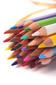 Closeup photo of color pencils — Zdjęcie stockowe