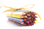 A closeup photo of color pencils — Foto Stock