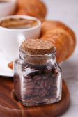 Coffee beans in a jar for a fresh morning — Stock Photo