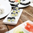 A variation of different sushi sets — Stock Photo