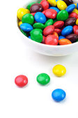 Candies and bowl — Stock Photo
