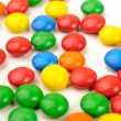Stock Photo: Vibrant picture of different color coated candies