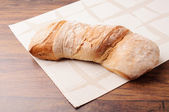 A loaf of italian organic bread — Stock Photo