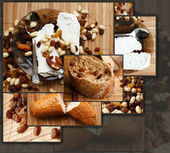 Bread with dried fruits and nuts — Stock Photo