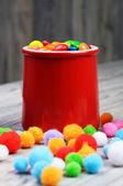 Cukierki w słoiku — Zdjęcie stockowe