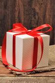 Gift box with ribbon — Stock Photo