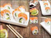 Salmon sushi — Stock Photo