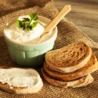 Mousse and bread — Stock Photo #43081141