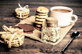 Cookies and chocolate — Stock Photo
