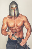 Barbarian with weapon — Foto de Stock