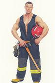 Muscle fireman — Stock Photo
