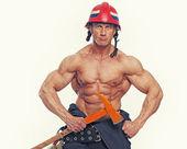 Bombero del músculo — Foto de Stock