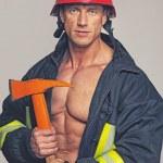 Muscle fireman — Stock Photo #44056321