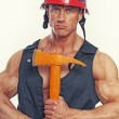 Muscle fireman — Stock Photo