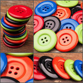 Plastic buttons — Stock Photo