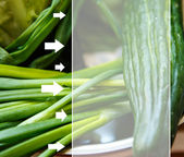 Cucumber and chive — Stock fotografie
