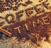 Kaffee-inschrift — Stockfoto