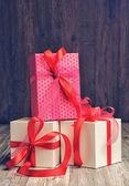 Caixas de presente com fita — Foto Stock