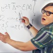 Nerd guy with marker — Stock Photo #45743629