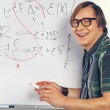Nerd guy with marker — Stock Photo #45743635