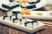 Shrimp sushi set — Stock Photo