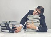 Man with magazines — Zdjęcie stockowe