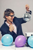 Man with balloon — Stock Photo
