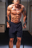 Muscled bodybuilder — Foto Stock