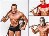 Barbarian with weapon — Stockfoto