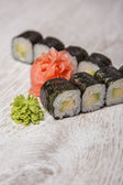 Wasabi sushi — Stock Photo