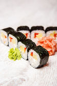 Sushi with wasabi — Stock Photo