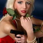 Beautiful young blonde woman — Stock Photo #2510241