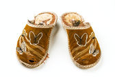 Pantofole donne spazzatura — Foto Stock