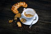 Drunk cappuccino — Stock Photo