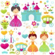Stock Photo: Princess set