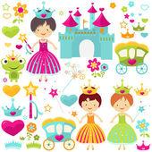 Zestaw księżniczki — Zdjęcie stockowe