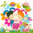 Easter background — Imagen vectorial