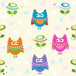 Owls pattern — Stock Vector #18972955